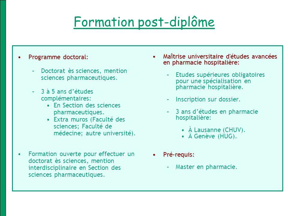 Formation post-diplôme
