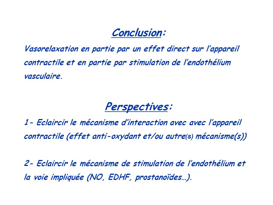 Conclusion: Perspectives: