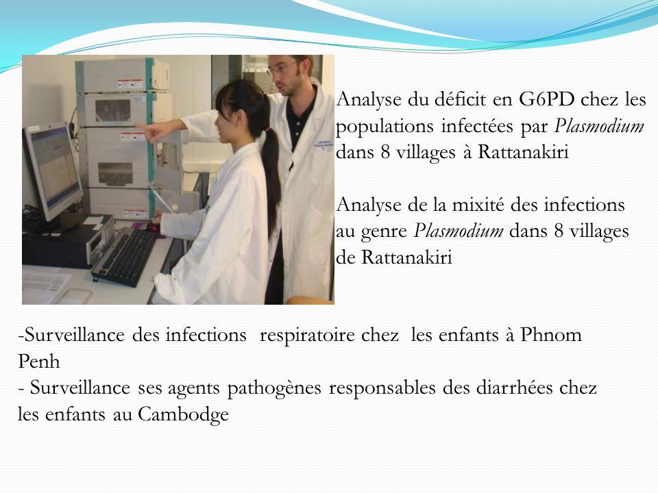 Analyse du déficit en G6PD chez les populations infectées par Plasmodium dans 8 villages à Rattanakiri