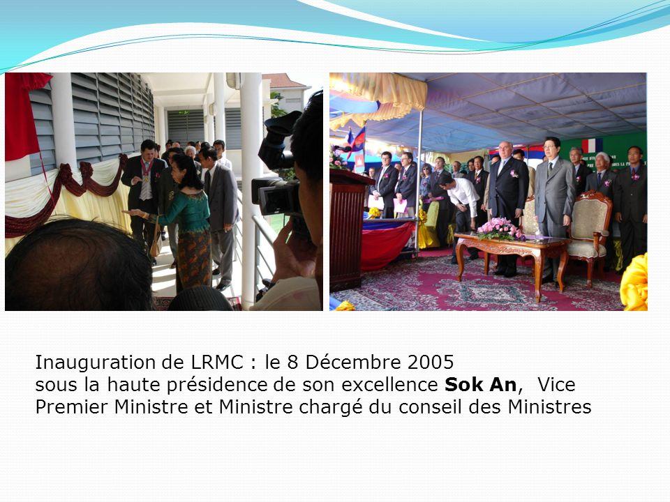 Inauguration de LRMC : le 8 Décembre 2005