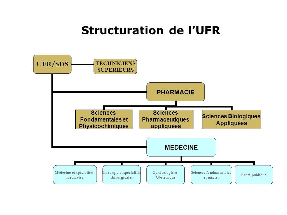 Structuration de l'UFR