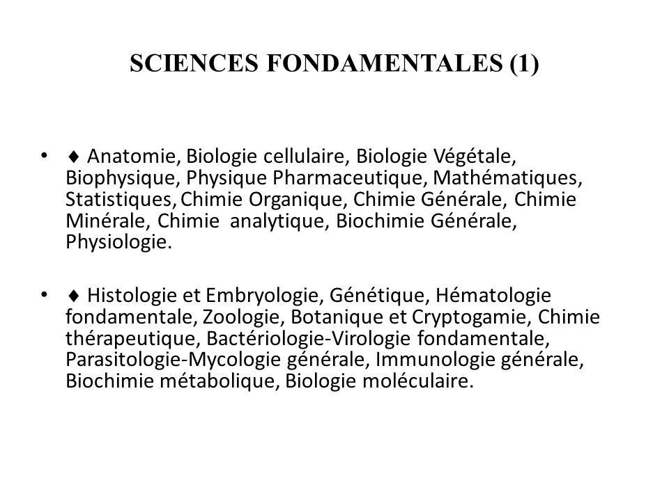 SCIENCES FONDAMENTALES (1)