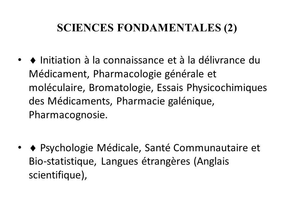 SCIENCES FONDAMENTALES (2)