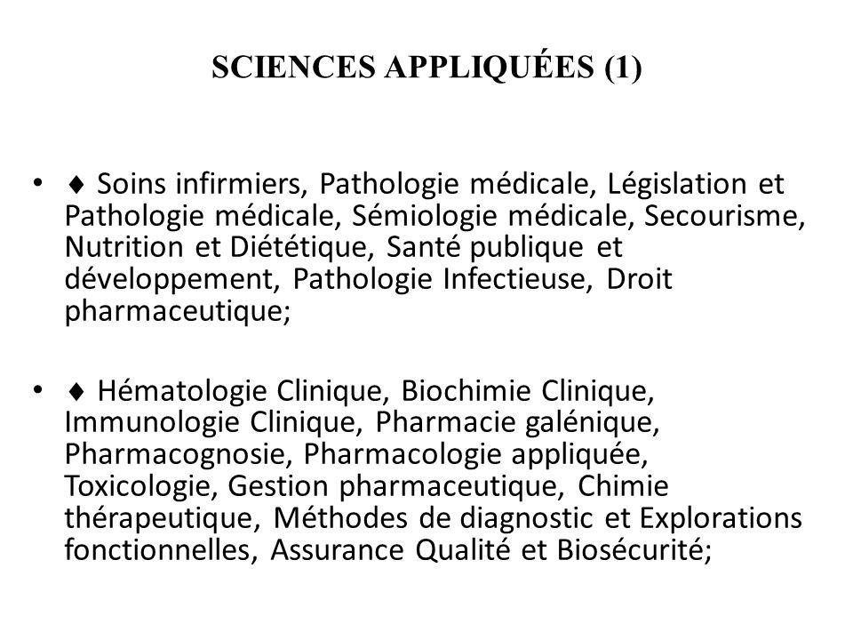 SCIENCES APPLIQUÉES (1)