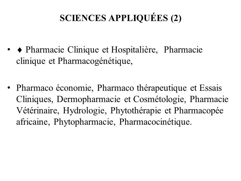 SCIENCES APPLIQUÉES (2)