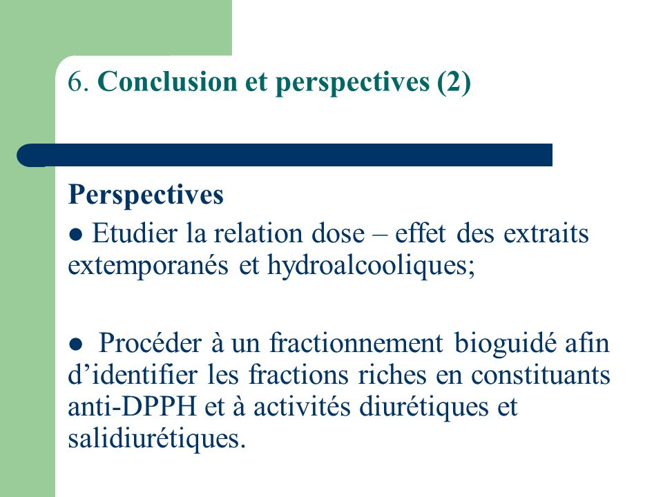 6. Conclusion et perspectives (2)