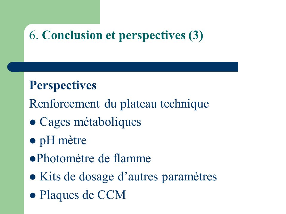 6. Conclusion et perspectives (3)