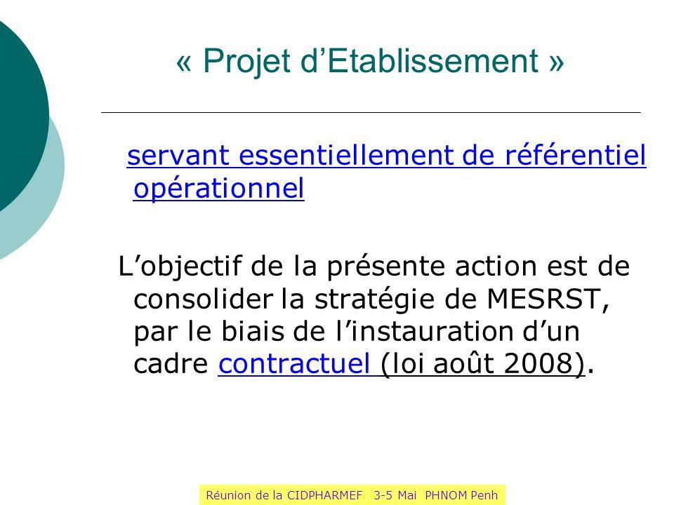 « Projet d'Etablissement »