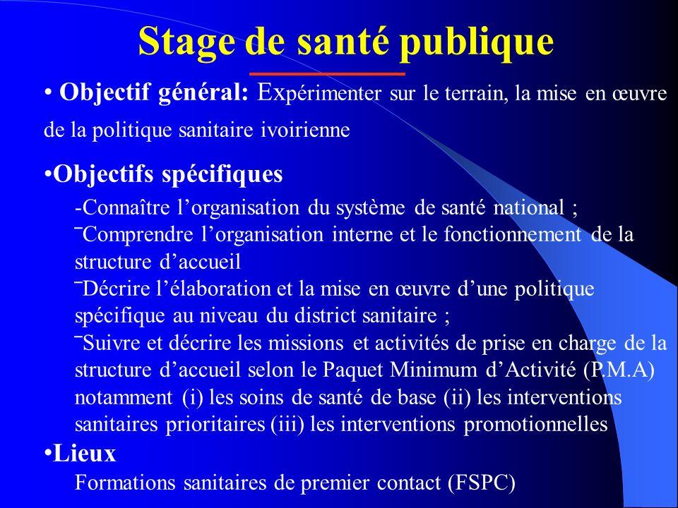 Stage de santé publique