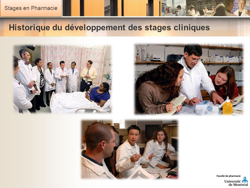 Historique du développement des stages cliniques