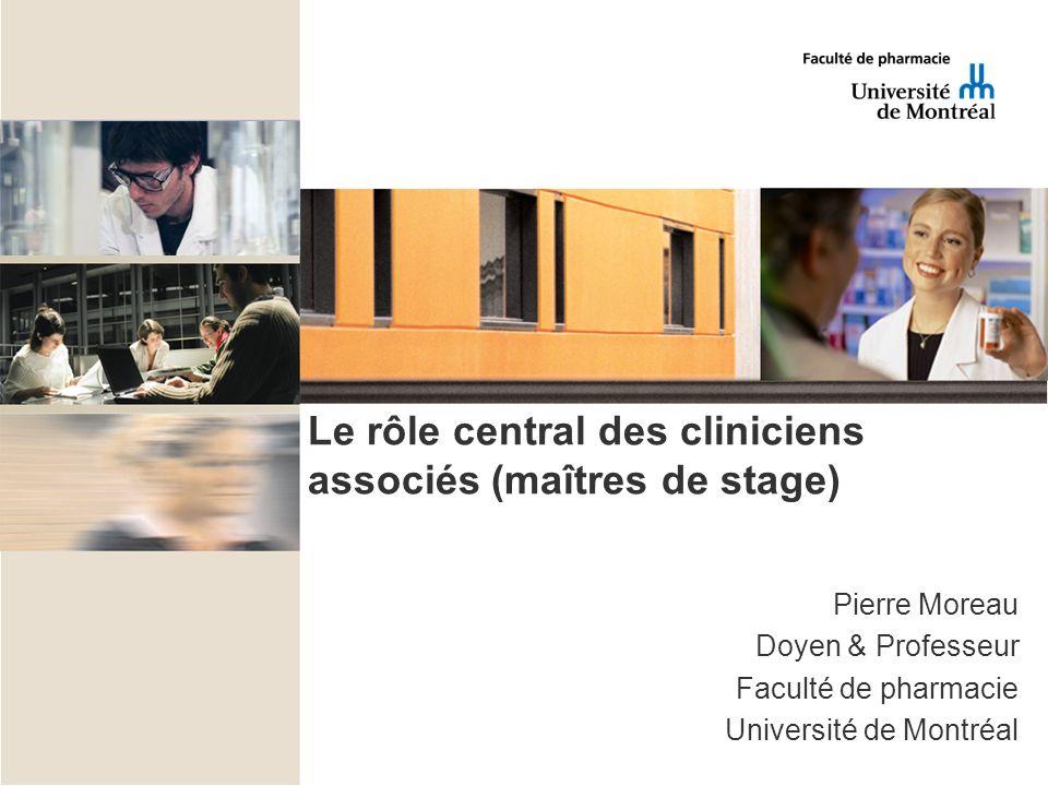 Le rôle central des cliniciens associés (maîtres de stage)