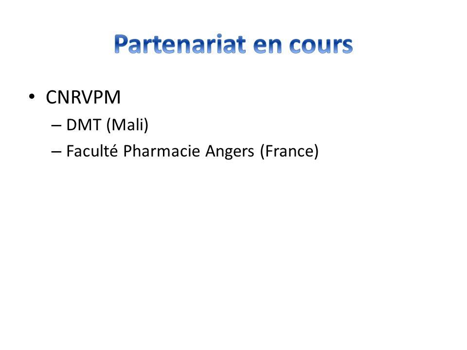 Partenariat en cours CNRVPM DMT (Mali)