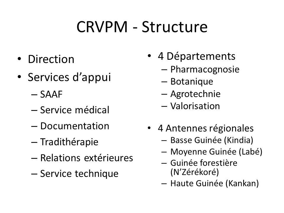 CRVPM - Structure Direction Services d'appui 4 Départements SAAF