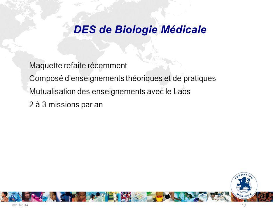 DES de Biologie Médicale