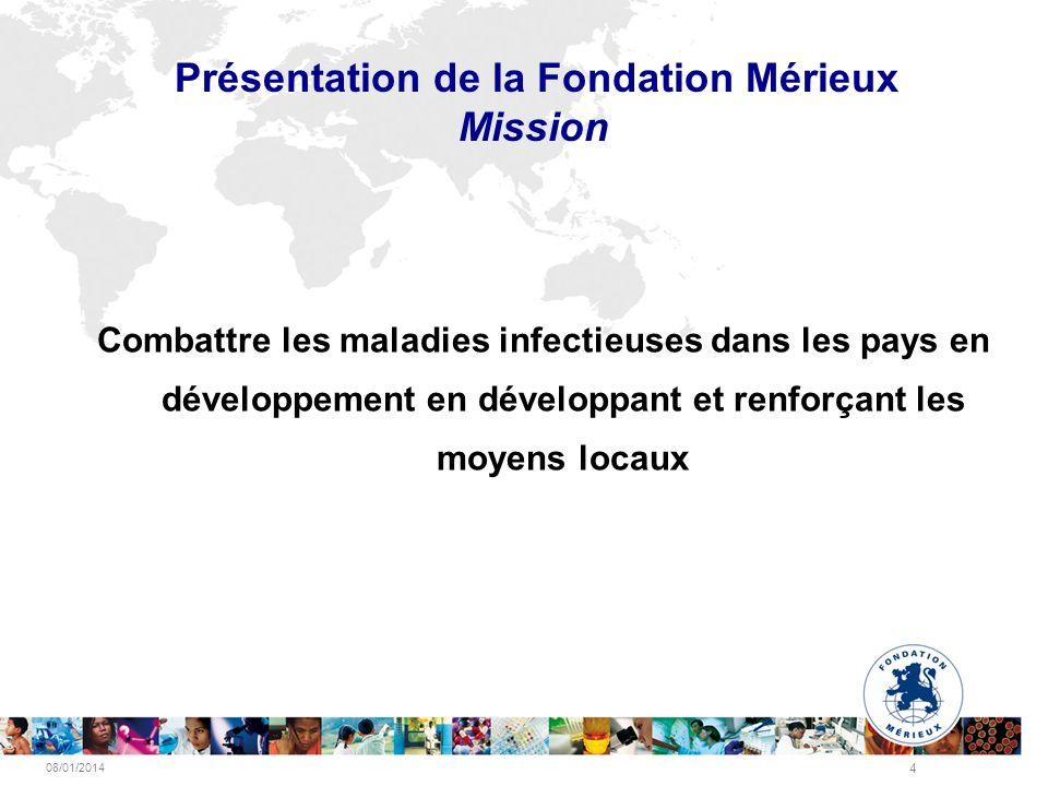 Présentation de la Fondation Mérieux