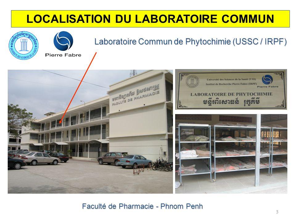 LOCALISATION DU LABORATOIRE COMMUN