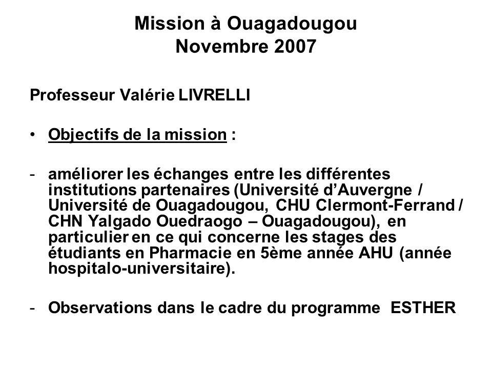 Mission à Ouagadougou Novembre 2007