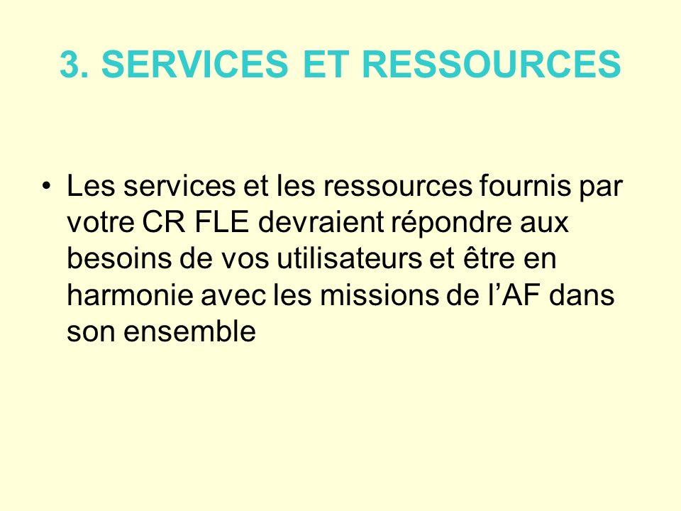 3. SERVICES ET RESSOURCES