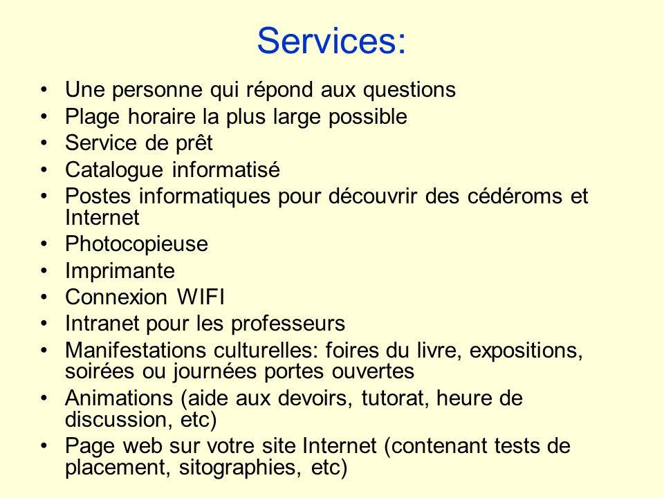 Services: Une personne qui répond aux questions