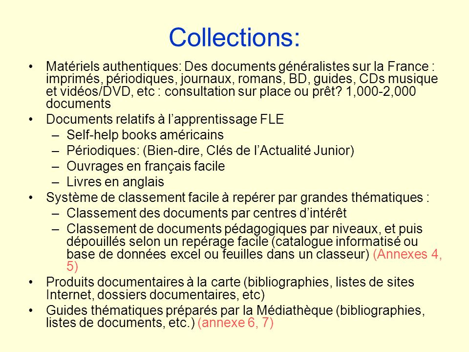 Collections: