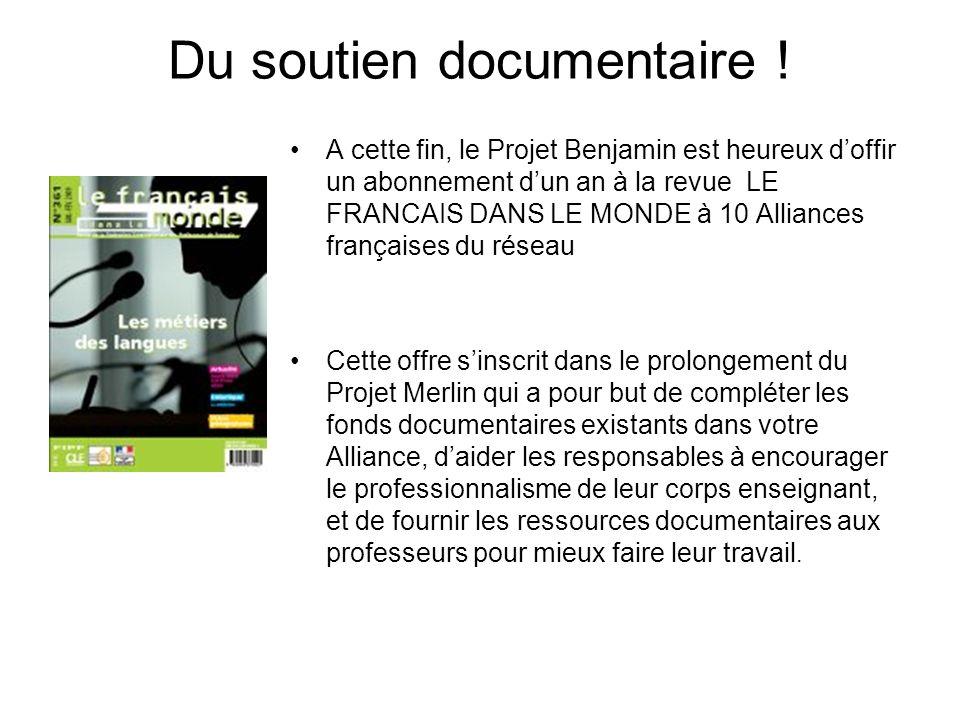 Du soutien documentaire !