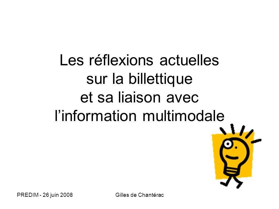 Les réflexions actuelles sur la billettique et sa liaison avec l'information multimodale