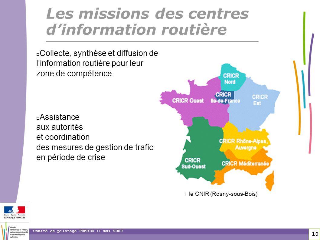 Les missions des centres d'information routière