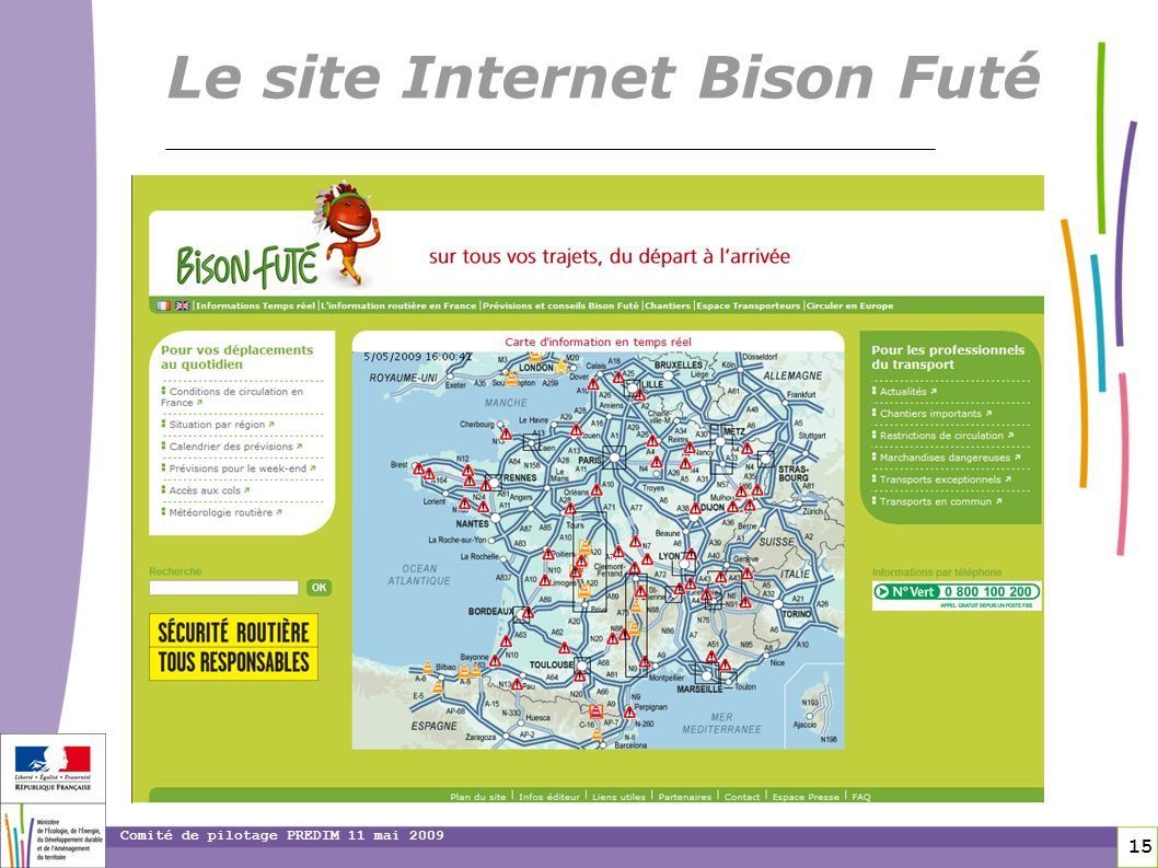 Le site Internet Bison Futé