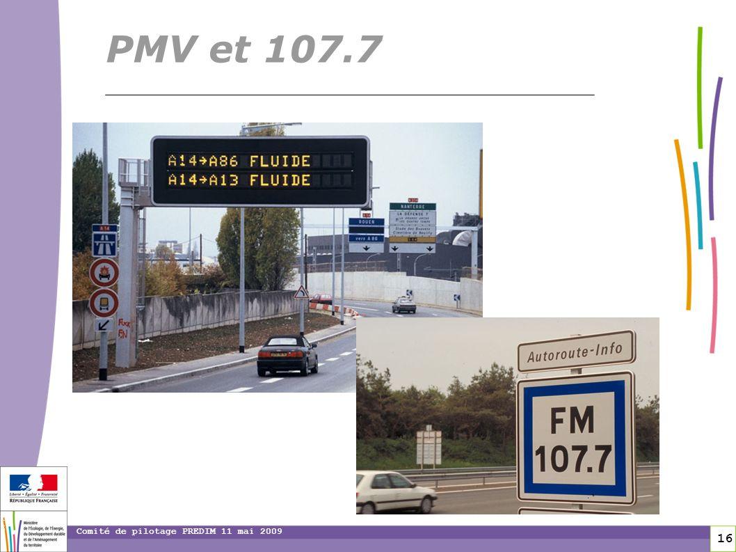 toitototototoot PMV et 107.7 Comité de pilotage PREDIM 11 mai 2009