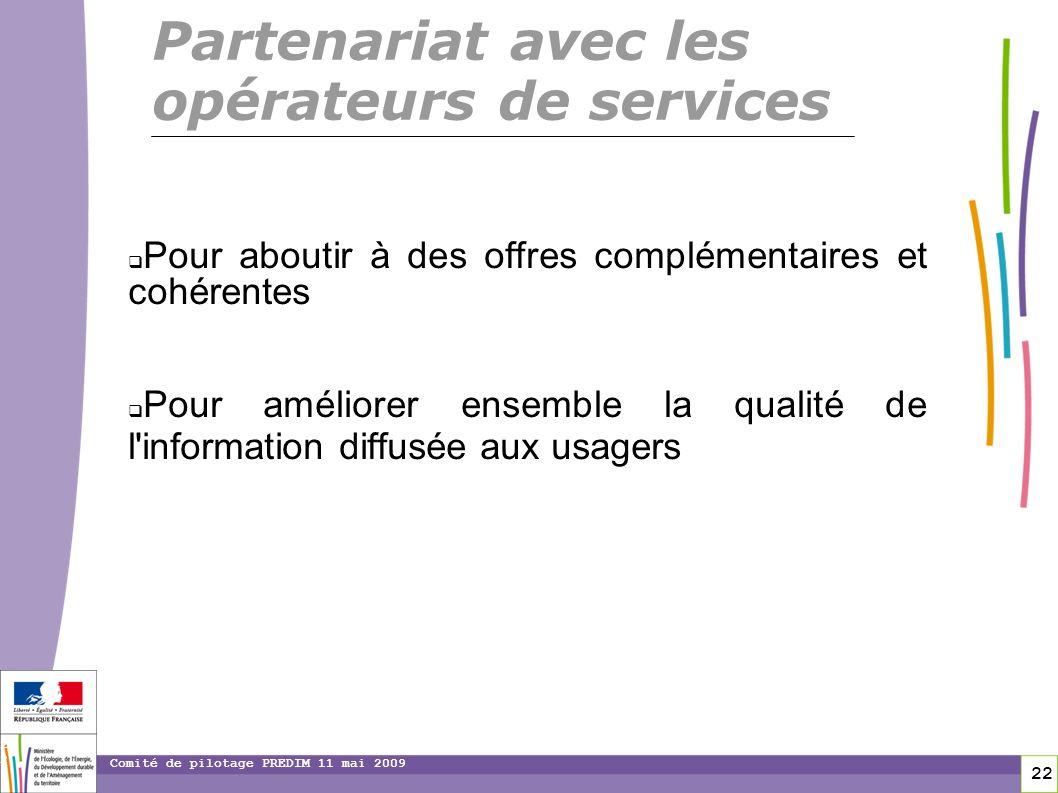 Partenariat avec les opérateurs de services