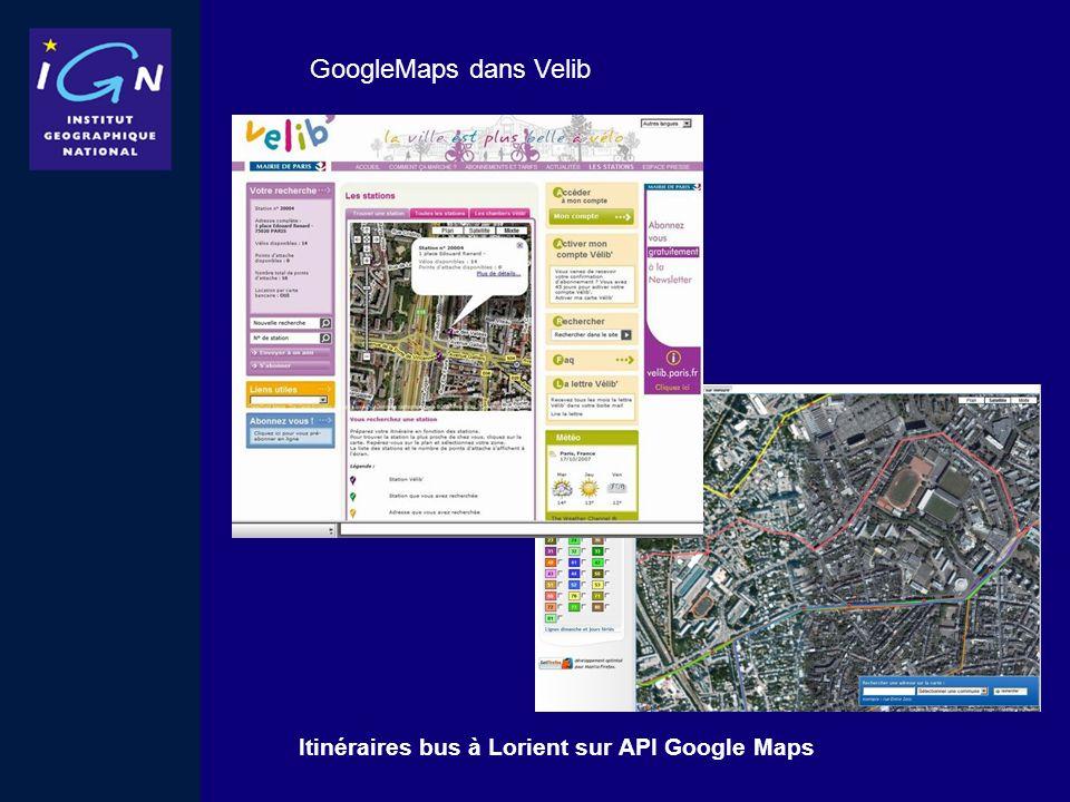 GoogleMaps dans Velib Itinéraires bus à Lorient sur API Google Maps
