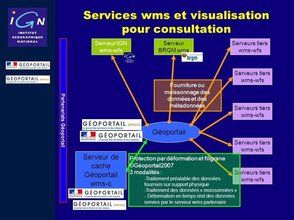 Services wms et visualisation pour consultation