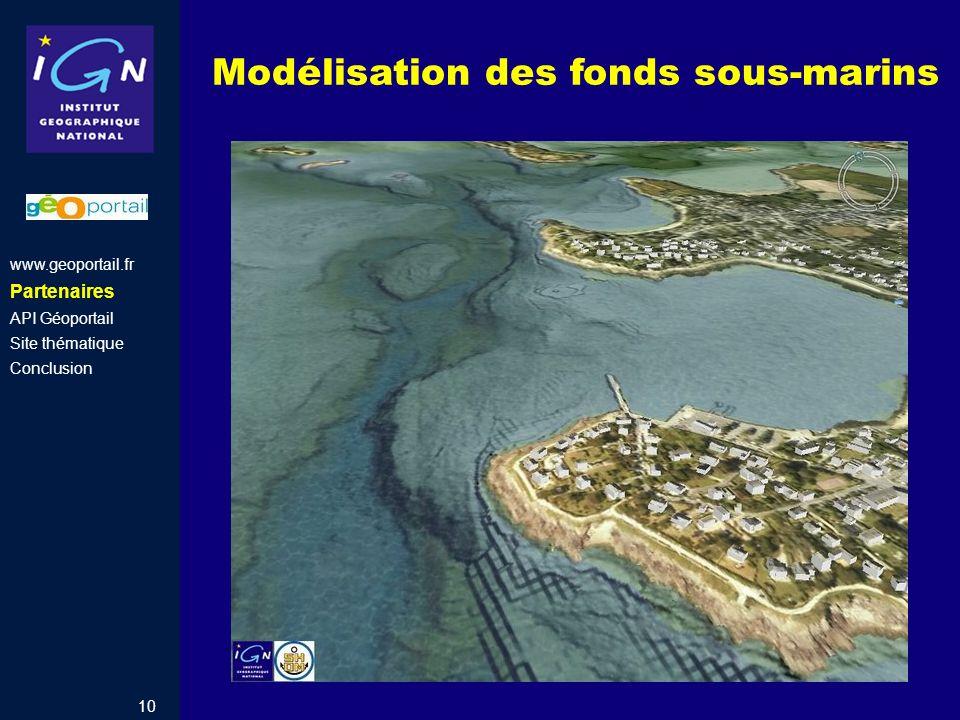 Modélisation des fonds sous-marins
