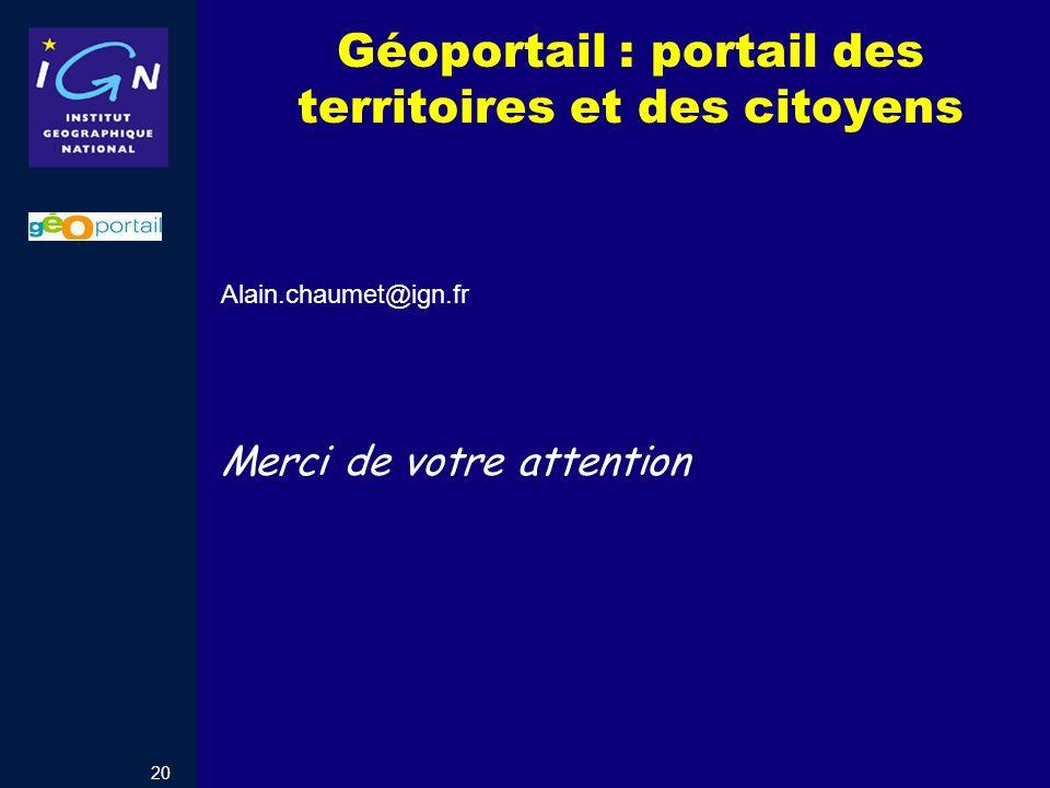 Géoportail : portail des territoires et des citoyens