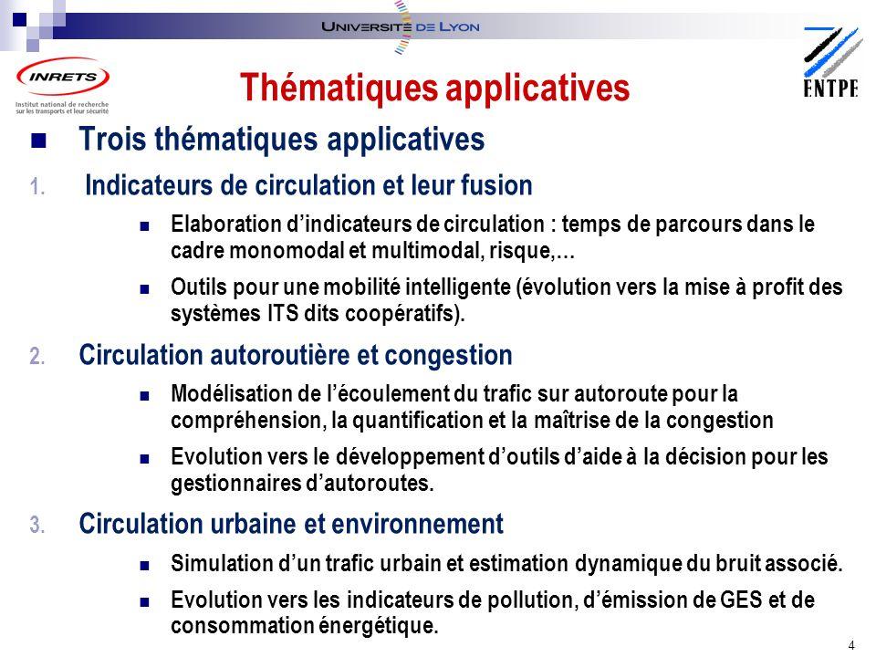 Thématiques applicatives