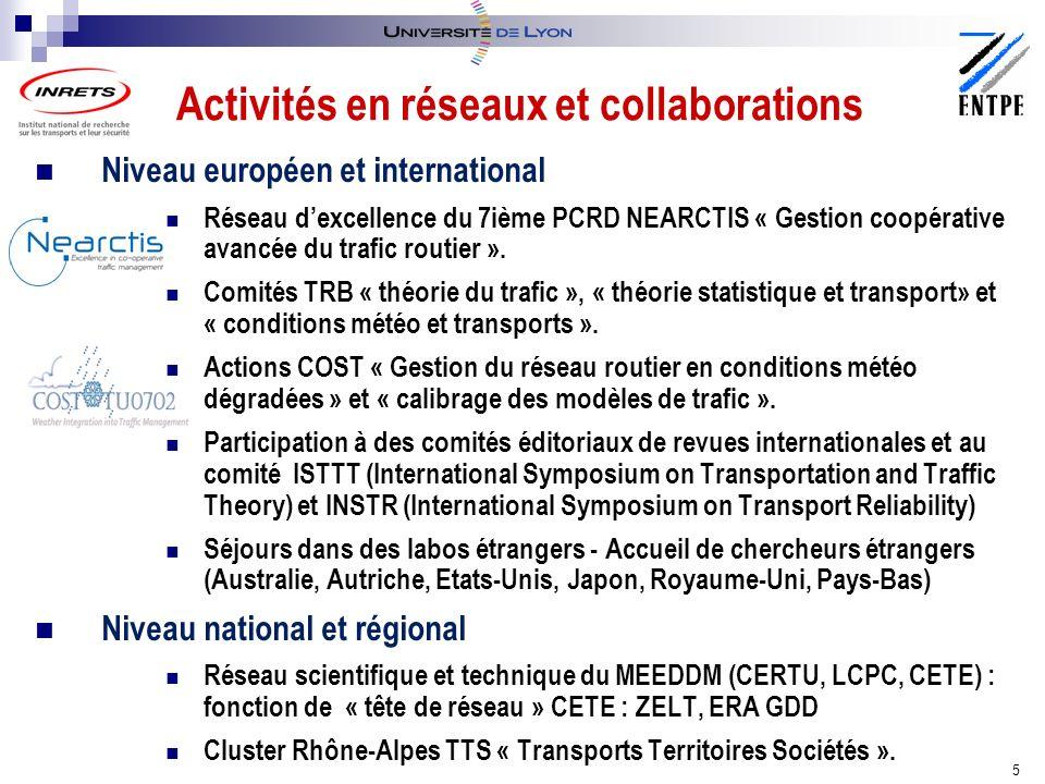 Activités en réseaux et collaborations