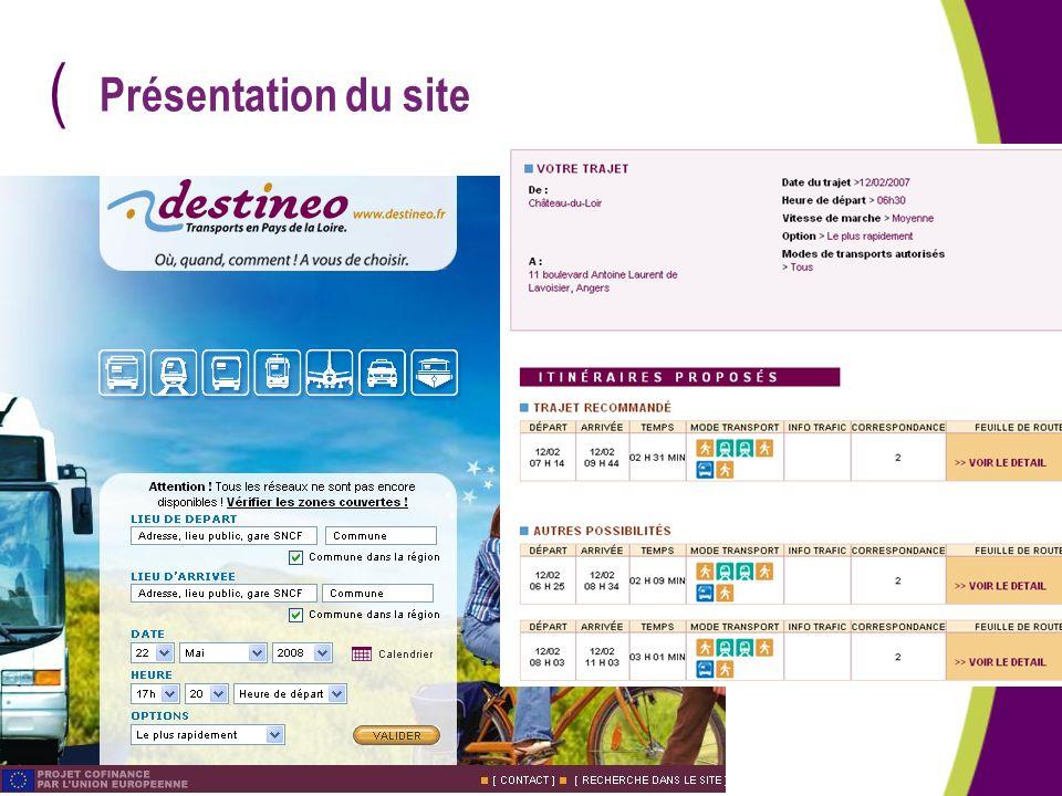 Présentation du site Destineo = accessible aux personnes aveugles qui possèdent un clavier braille ou un lecteur de synthèse vocale.