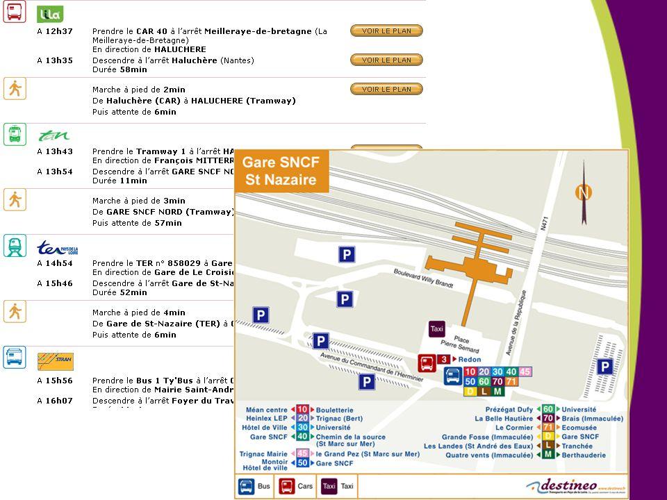 Etape 3 : visualiser le détail de l'itinéraire : quel mode de transport, quel réseau, quels horaires, quelle ligne de transport
