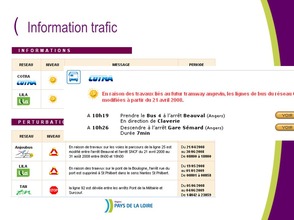 Information trafic