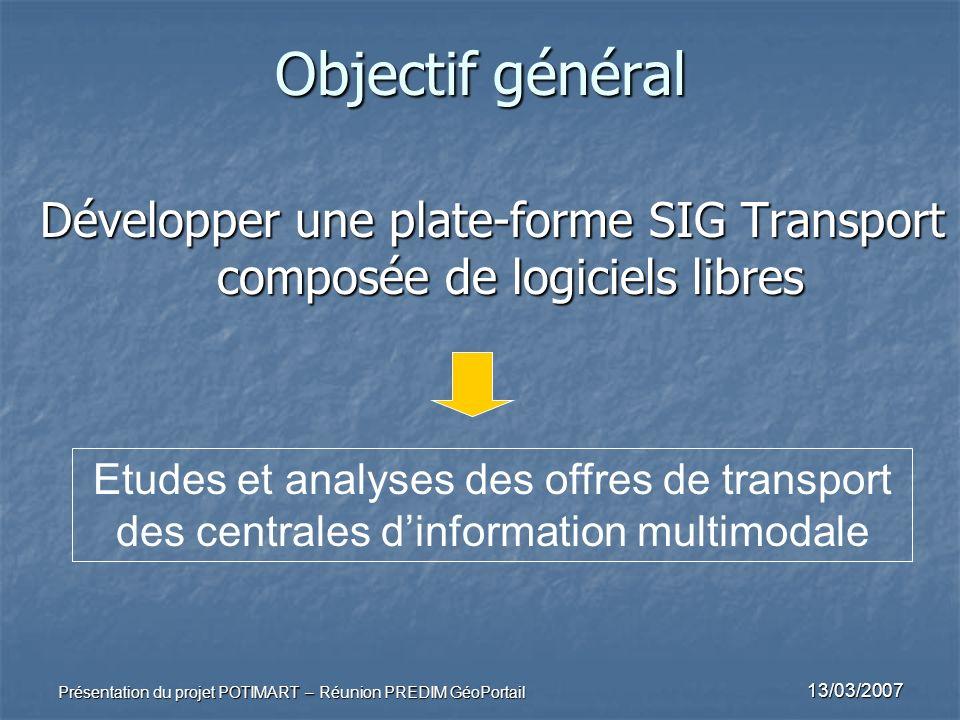 Développer une plate-forme SIG Transport composée de logiciels libres