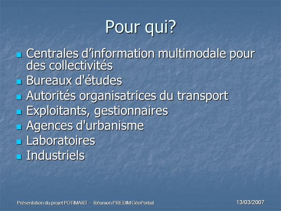 Pour qui Centrales d'information multimodale pour des collectivités