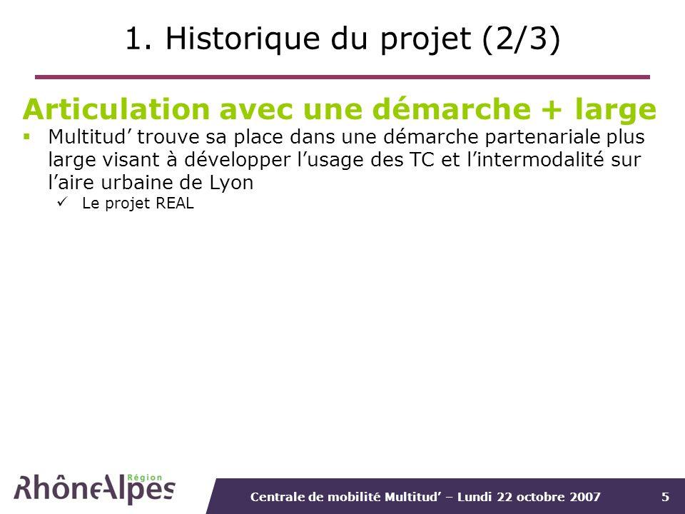 1. Historique du projet (2/3)