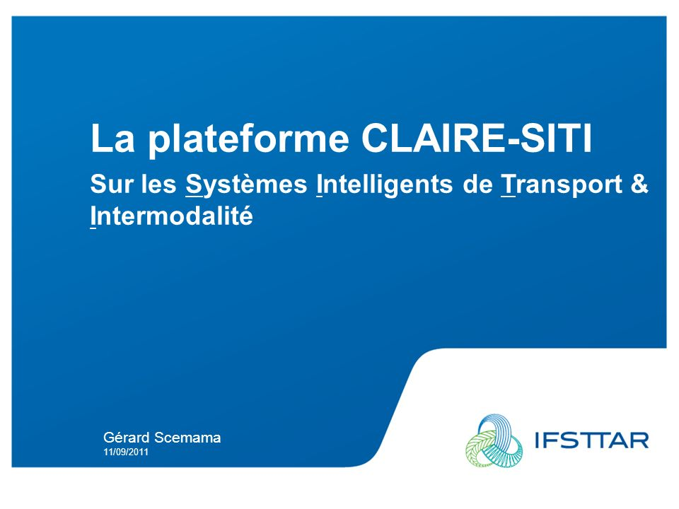 La plateforme CLAIRE-SITI