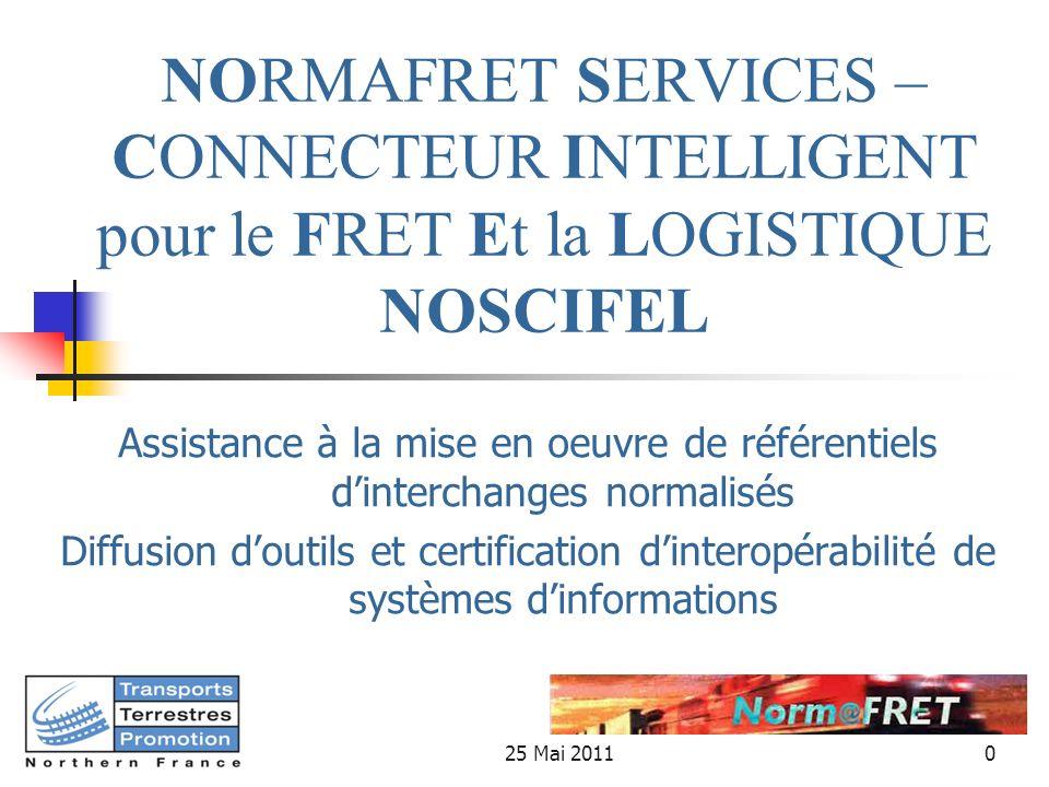 NORMAFRET SERVICES – CONNECTEUR INTELLIGENT pour le FRET Et la LOGISTIQUE NOSCIFEL