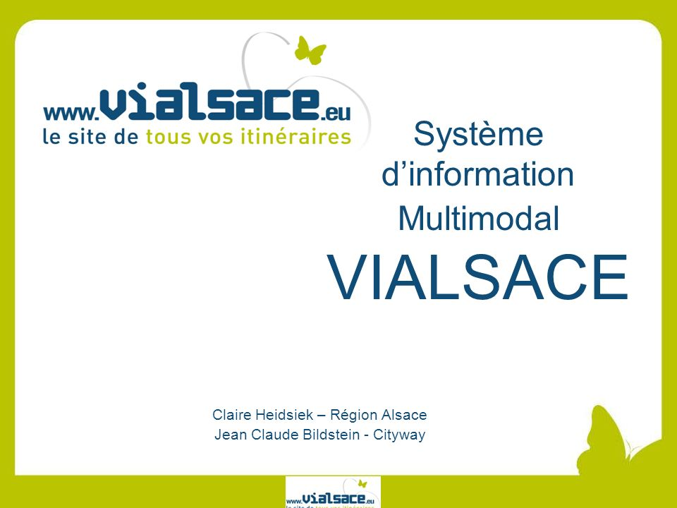 Système d'information Multimodal VIALSACE
