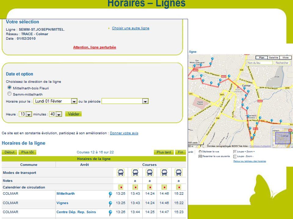 Horaires – Lignes Horaire ligne 7 (perturbation) + Plan de la ligne