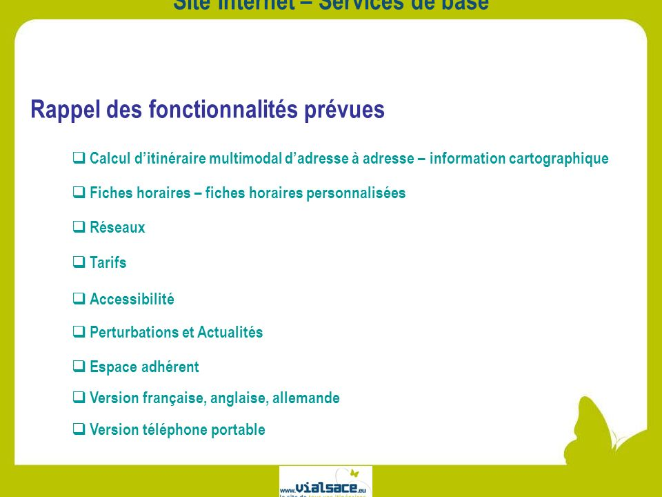 Site Internet – Services de base