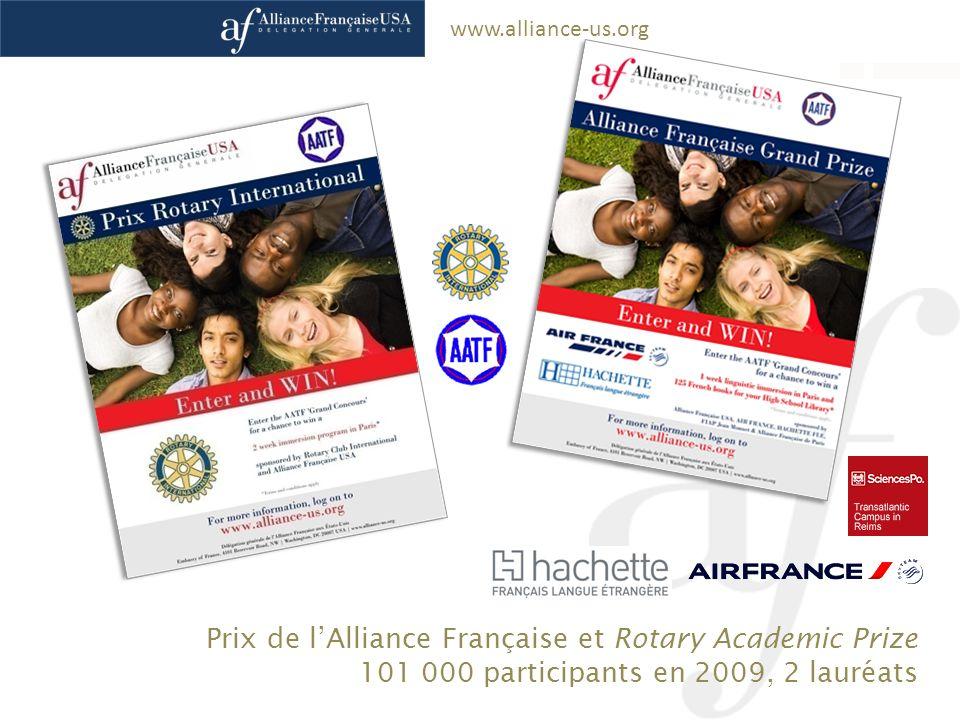 Prix de l'Alliance Française et Rotary Academic Prize
