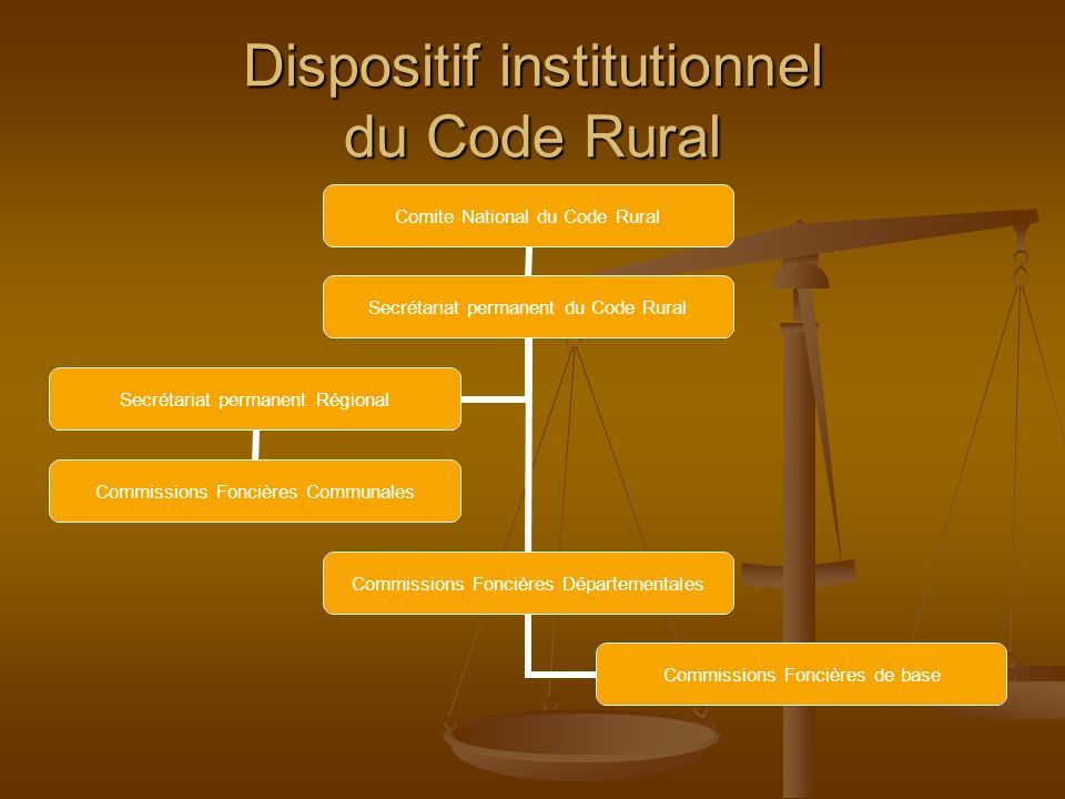 Dispositif institutionnel du Code Rural