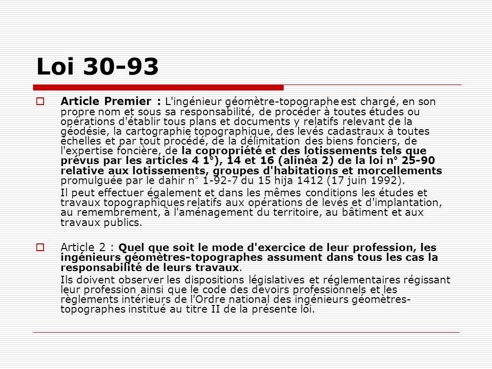 Loi 30-93